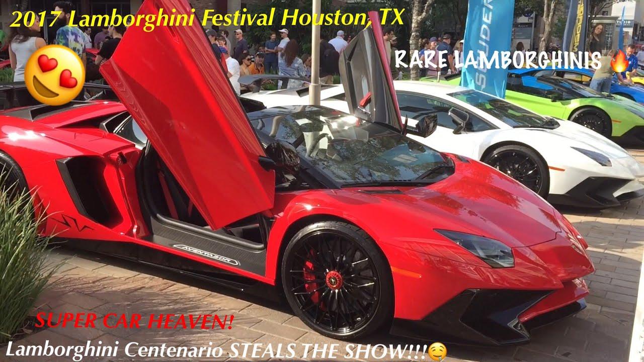 Centenario Steals The Show Lamborghini Festival Houston 2017