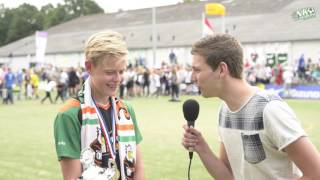 NK Veldkorfbal 2016 Interview Jelmer Holwerda