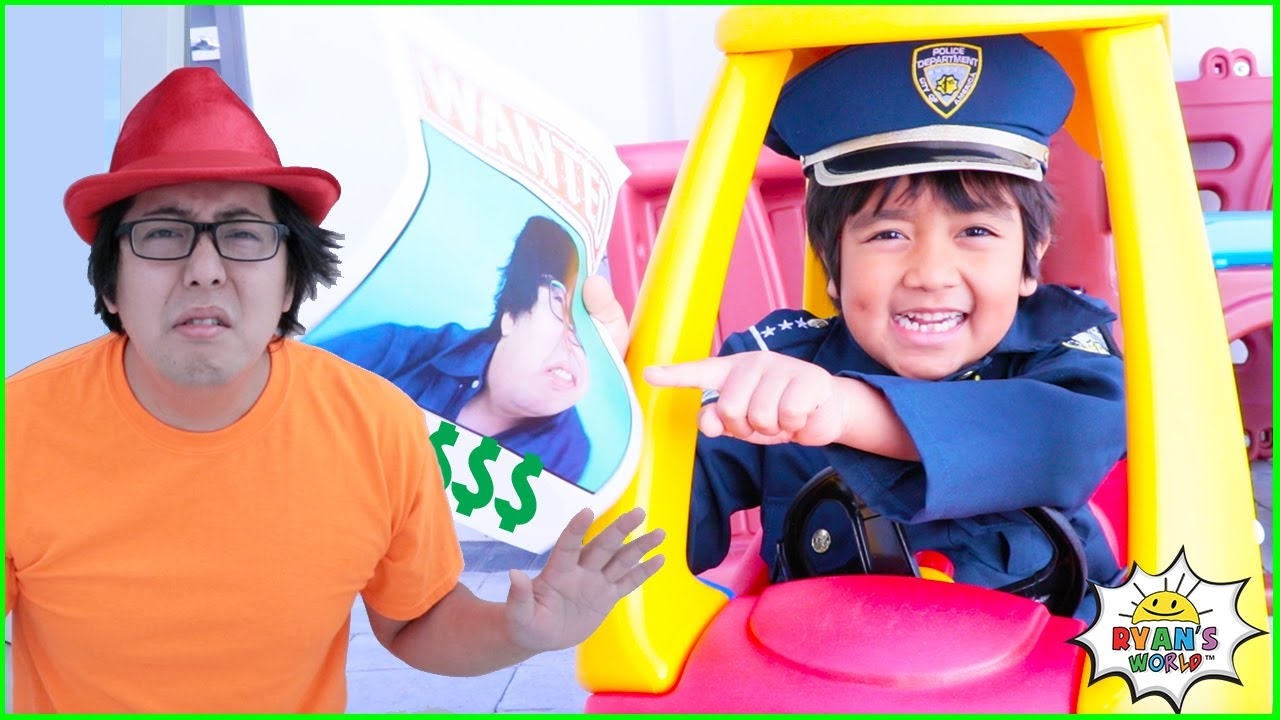 Download Ryan Pretend Play funny Police story helps find missing items!!!