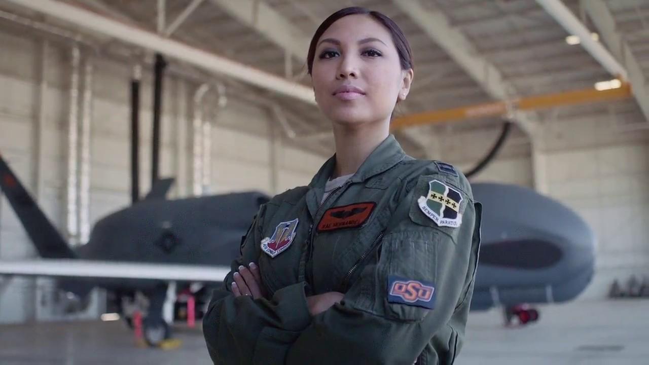 Posing Little Air Force Slut