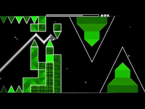 Green Challenge by VirtualMachine (me) [Geometry Dash]