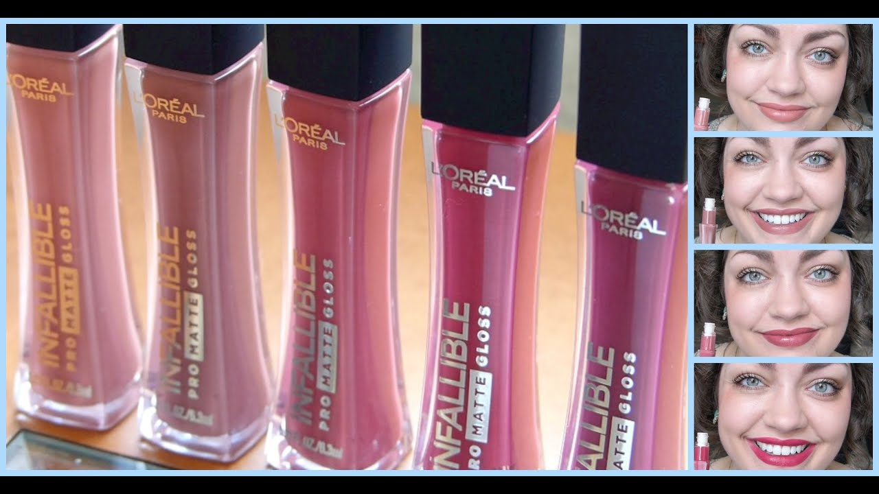 youtube made me buy it loral infallible pro matte gloss youtube - Gloss Color L Oral Professionnel