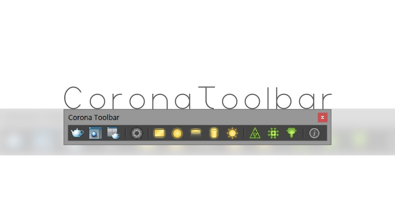 Corona Toolbar for 3ds Max