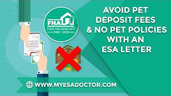 Avoid Pet Deposit Fees & No Pet Policies with an ESA Letter