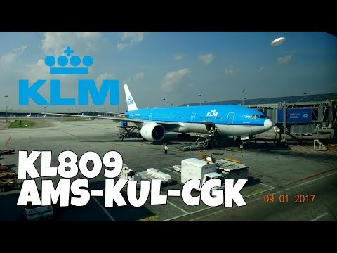 KLM B777-206(ER) Economy Class | KL809 Amsterdam(AMS) - Kuala Lumpur(KUL) - Jakarta(CGK)