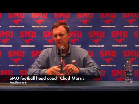 SMU football head coach Chad Morris