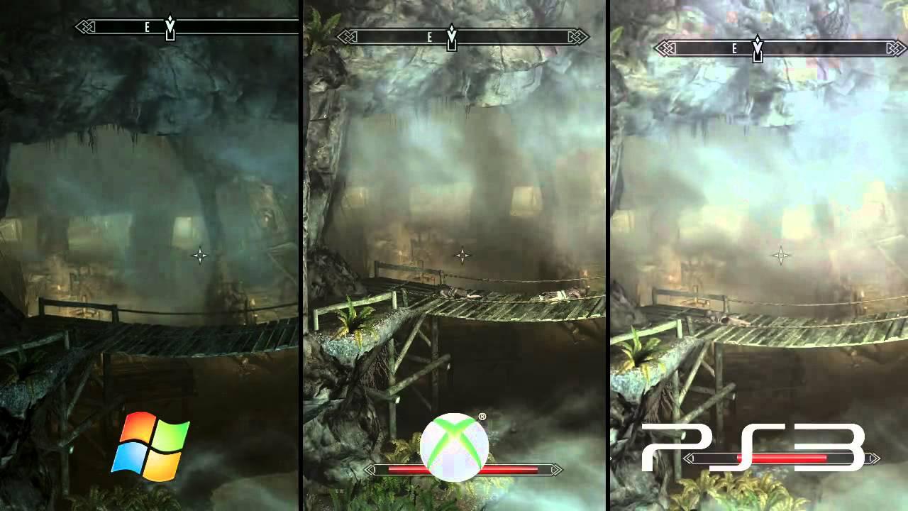 Skyrim Grafik PC Vs PS3 Vs Xbox 360 Im Special Von