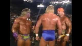 Ultimate Warrior and Hulk Hogan Promo on Match Made in Hell (08-03-1991)