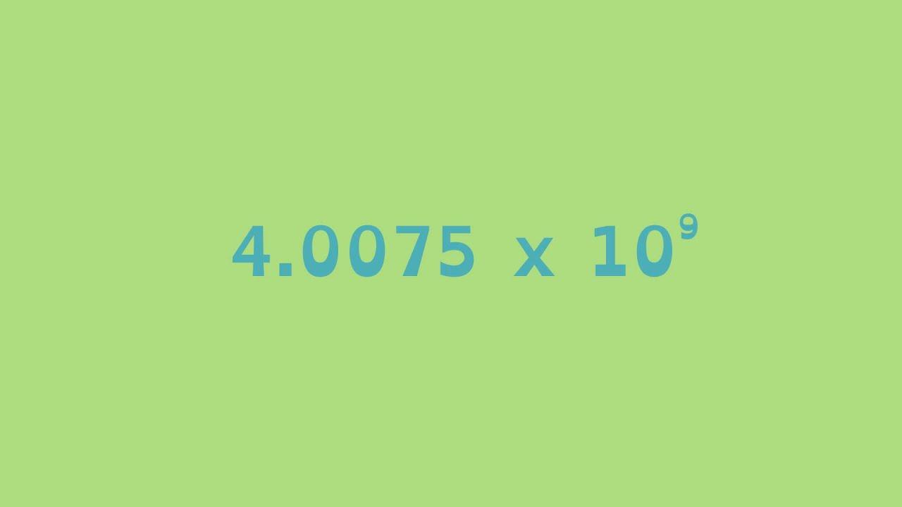 Math Shorts Episode 7 - Scientific Notation