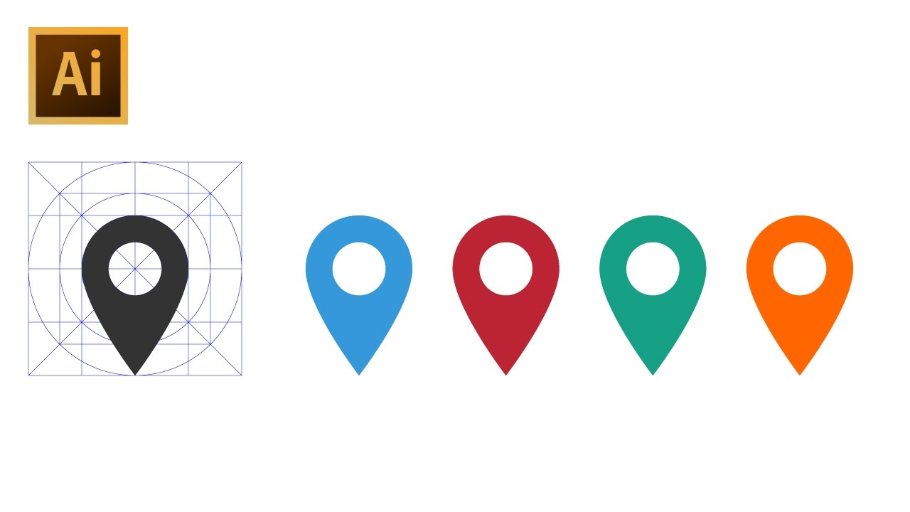 How To Draw Location Pin Icon