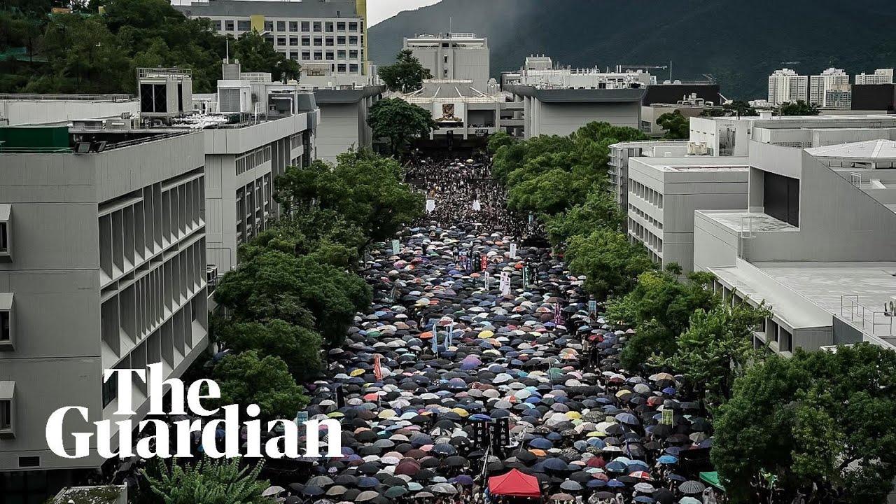 Hasil gambar untuk Hong Kong students boycott first day of classes