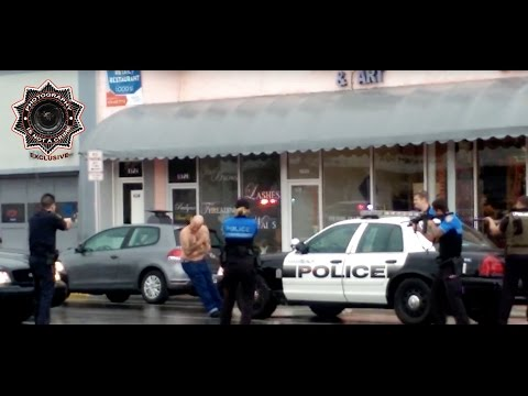 EXCLUSIVE: 2nd Angle - Miami Beach Police Gun Down Man Blocks from Art Basel  (GRAPHIC VIOLENCE)