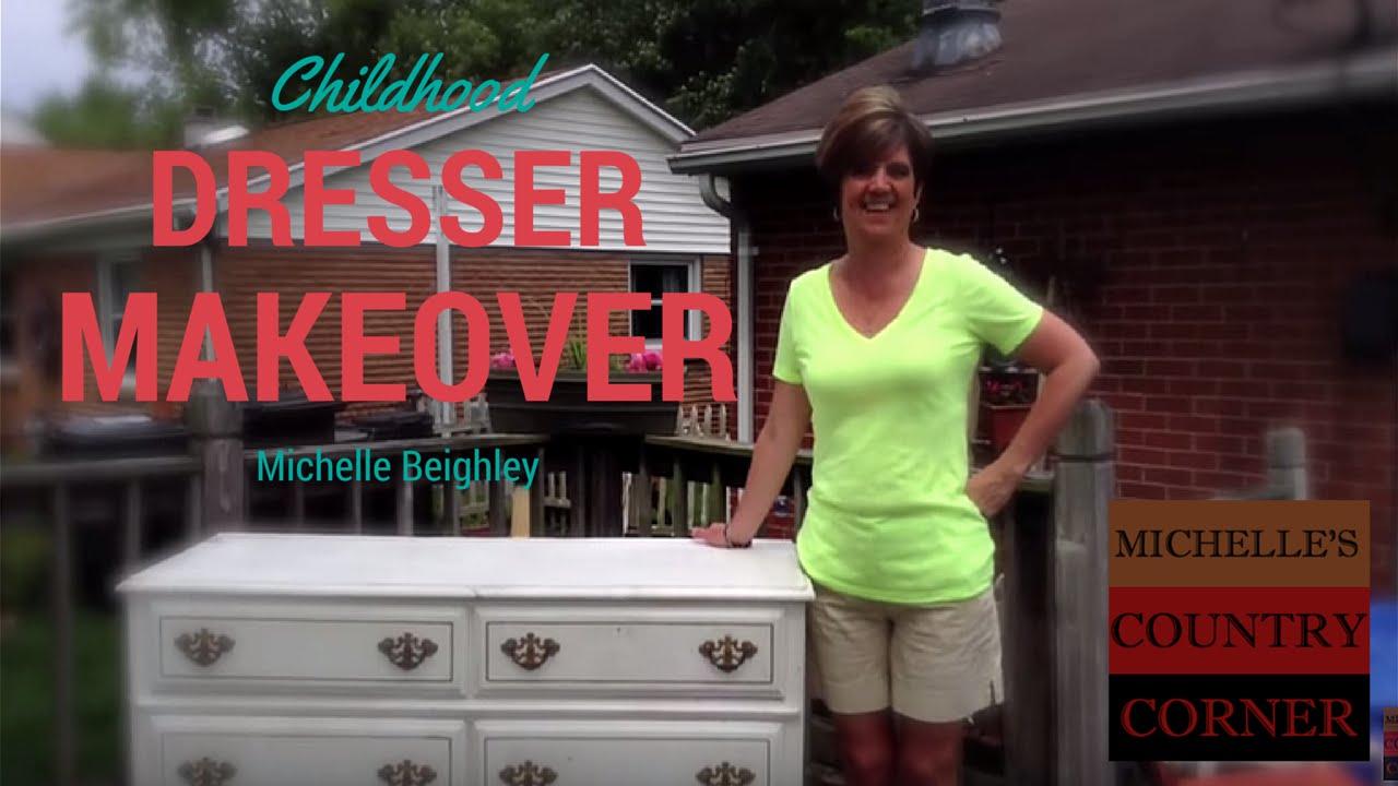 Diy Childhood Dresser Makeover To Tv Console