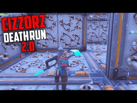 Cizzorz DEATH RUN 2.0 is IMPOSSIBLE... But we BEAT IT!! (Kinda) - Fortnite Creative