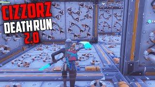 Cizzorz DEATH RUN 2.0 is IMPOSSIBLE... But we BEAT IT!! (Kinda) - Fortnite Creative