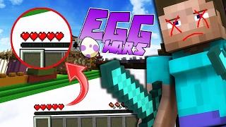 TODA LA PARTIDA CON SOLO 5 CORAZONES!? + HACKER MUERTO (Minecraft Eggwars)