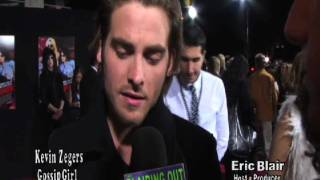 Gossip Girls Kevin Zegers Talks about the anticipation of kissing a Gossip Girl with Eric Blair