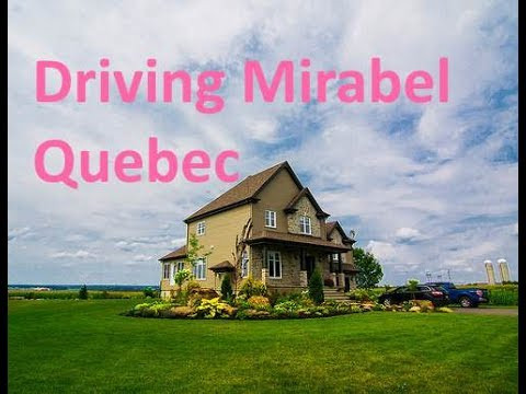 Driving Mirabel Quebec to Montreal
