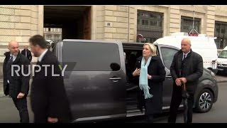 France: Le Pen and Macron arrive at commemoration for killed police officer