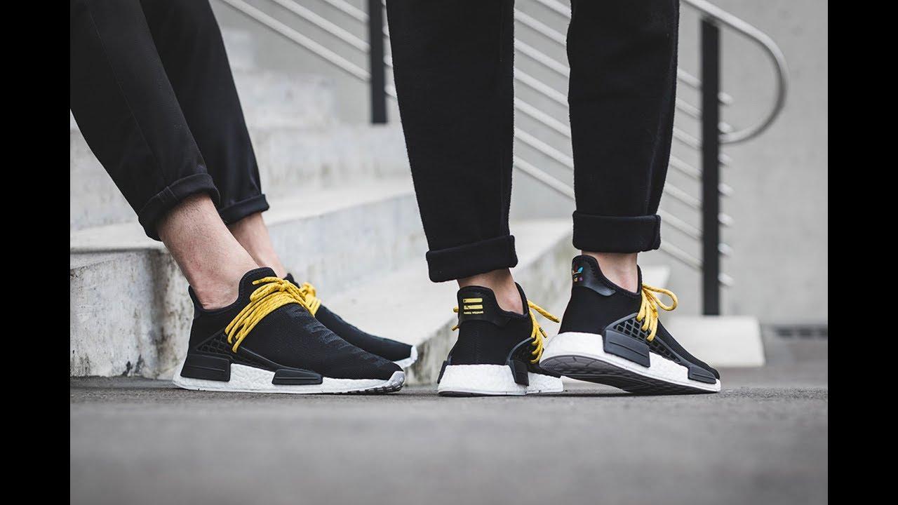 Adidas X Pharrell Nmd Human Race Black Bb3068 Review Youtube