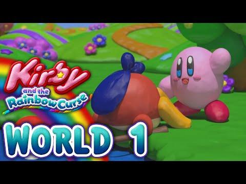 Kirby and the Rainbow Curse: World 1 (4-Player)