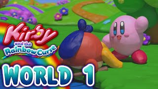 Kirby and the Rainbow Curse: World 1 (4-Player)