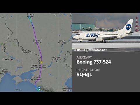 UTair Boeing 737-524 VQ-BJL   Moscow, Vnukovo (VKO) ✈ Sochi, Adler (AER)   UT249