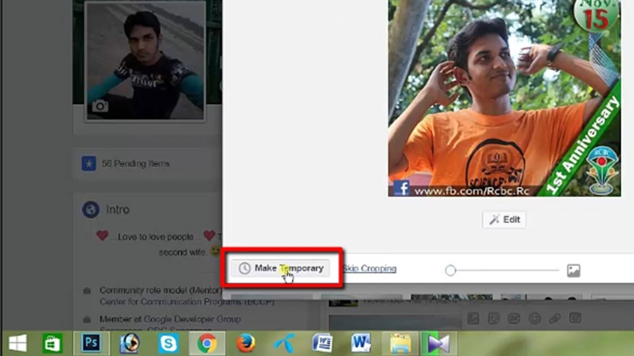 How to set temporary profile picture on facebook [updated] - YouTube