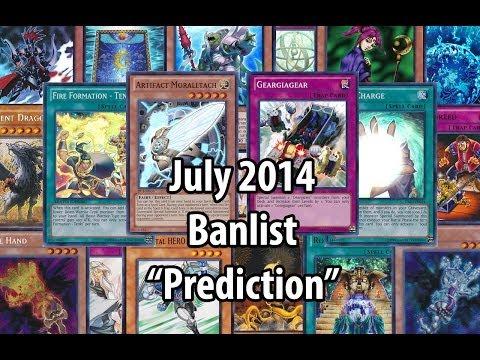 Yu-Gi-Oh! Banlist Prediction - July 2014 - My thoughts on the possible upcoming TCG banlist