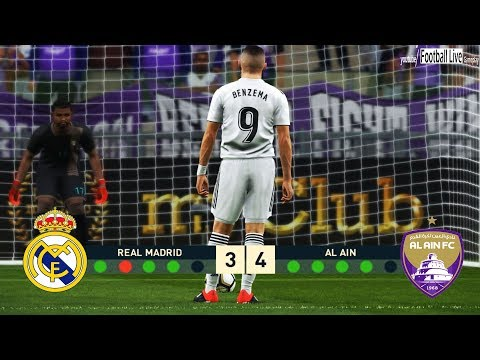 PES 2019 | Real Madrid vs Al Ain | Final FIFA Club Wolrd Cup | Penalty Shootout | ريال مدريد والعين