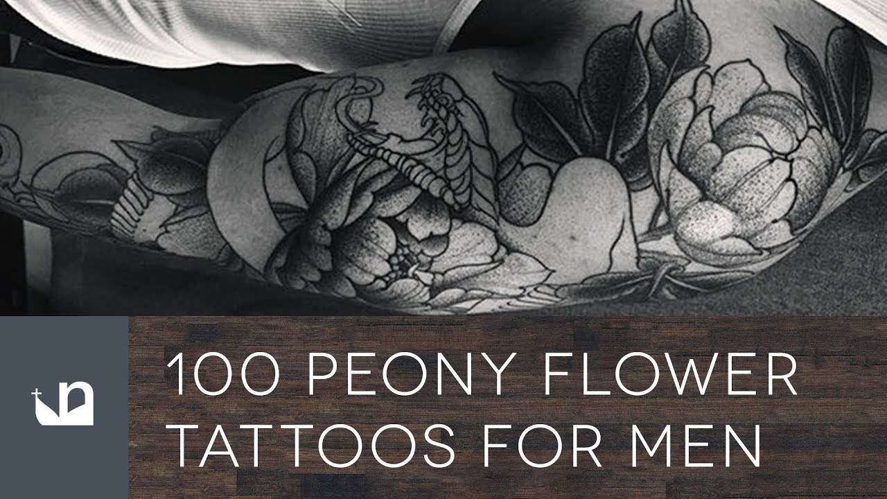 100 Peony Tattoos For Men Youtube