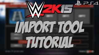 (PS4) WWE2K15 - How To Use The Logo Import Tool