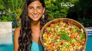 Mediterranean Salad With Fullyraw Hummus