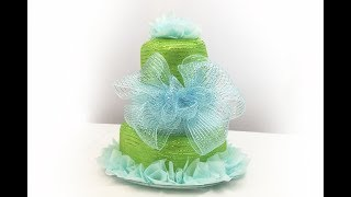 BABY | Diaper Cake Baby Shower | DIY Diaper Cake Tutorial
