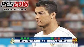 Penalty Shootout Barcelona vs Real Madrid PES 2016