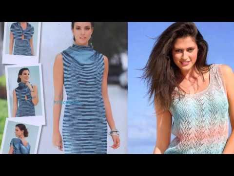 Модели вязаной одежды из секционной пряжи Вяжем с Людмилой Тен #ЛюдмилаТен