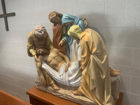 OLGC welcomes Bishop Battersby for Mass & Blessing/Praying of our new Stations of the Cross 9/13/20