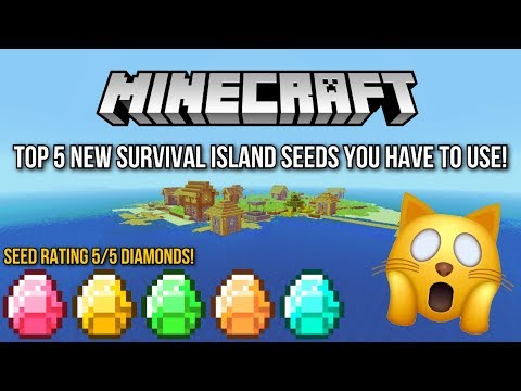 Minecraft - Top 5 New Survival Island Seeds You HAVE To Use! (Minecraft PS4, Xbox One, PS3,Xbox 360)