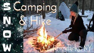 Adirondack Backcountry Snow Camping and Hike
