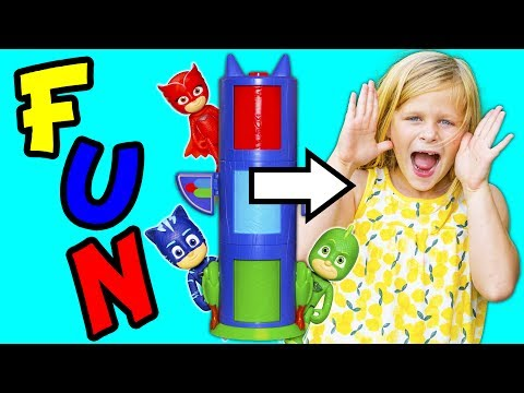Thumbnail: PJ MASKS Disney Transforming Towers Changing Letters Spelling Game with Paw Patrol + Assistant
