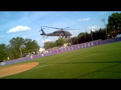 Military Helicopter a cartersville baseball