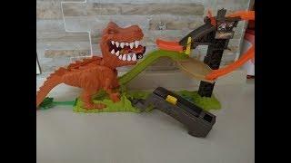 Hot Wheels Çılgın Dinazor T-Rex Kutu Açılışı ve Oyuncak Kurulumu - Hot Wheels T-Rex Playset Unboxing