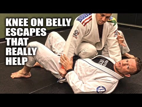 Jiu-Jitsu Escapes | Knee on Belly Escapes that Really Help