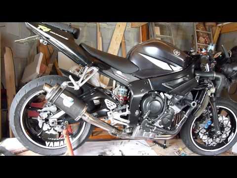 YAMAHA R6 2004 Agressive Exhaust Leo Vince Racing