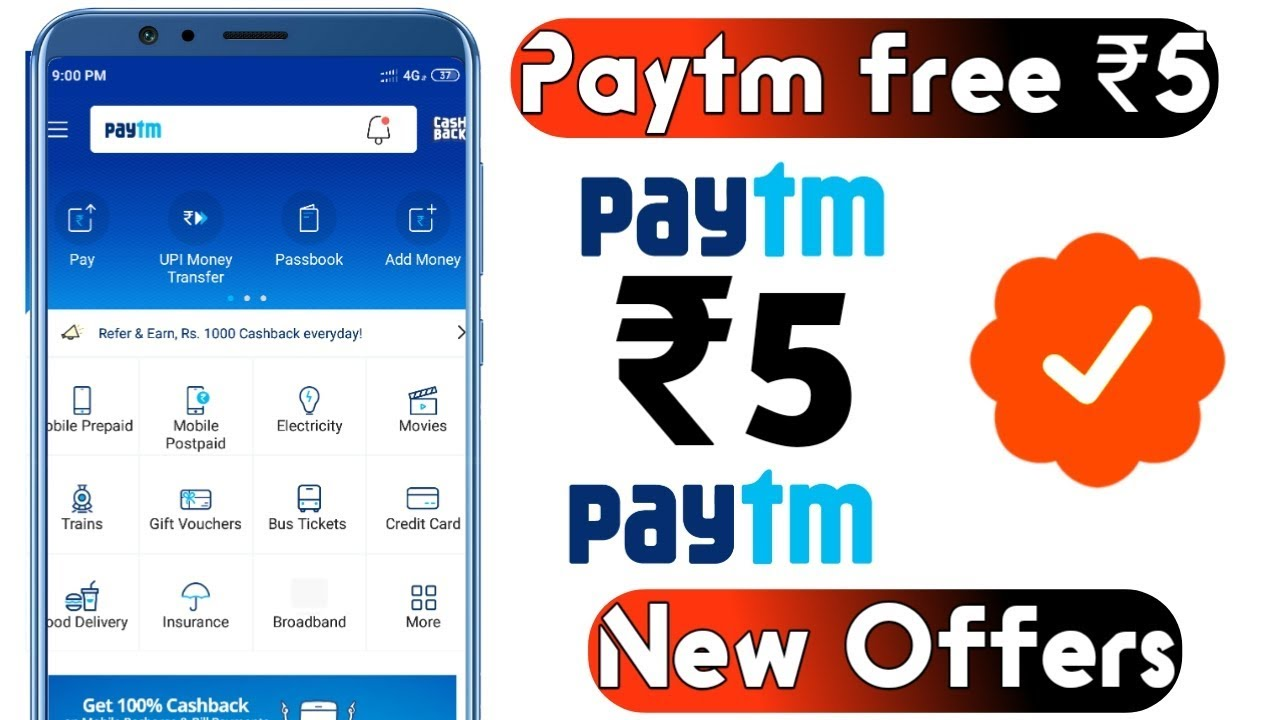 Paytm gold offer today 2019   Paytm loot offer ₹5   Paytm new promo code today   Paytm offers today