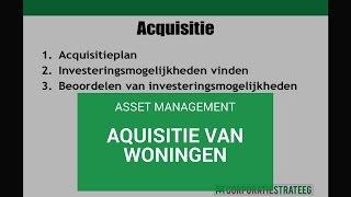 Asset Management: acquisitie van woningen