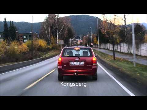 Drammen to Kongsberg- Drivers view