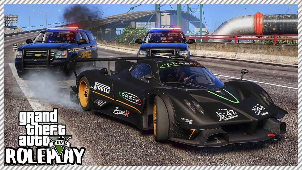 GTA 5 Roleplay - High Speed Police Chase   RedlineRP #638