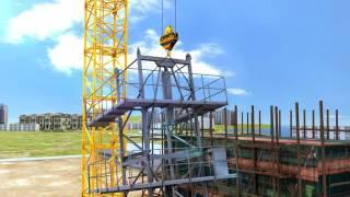 видео Технология монтажа башенных кранов
