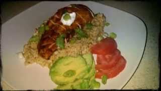 Grilled Chicken & Green Chile Rice Pilaf